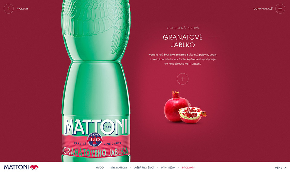 Mattoni web page screen