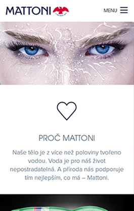 Mattoni mobile web page screen